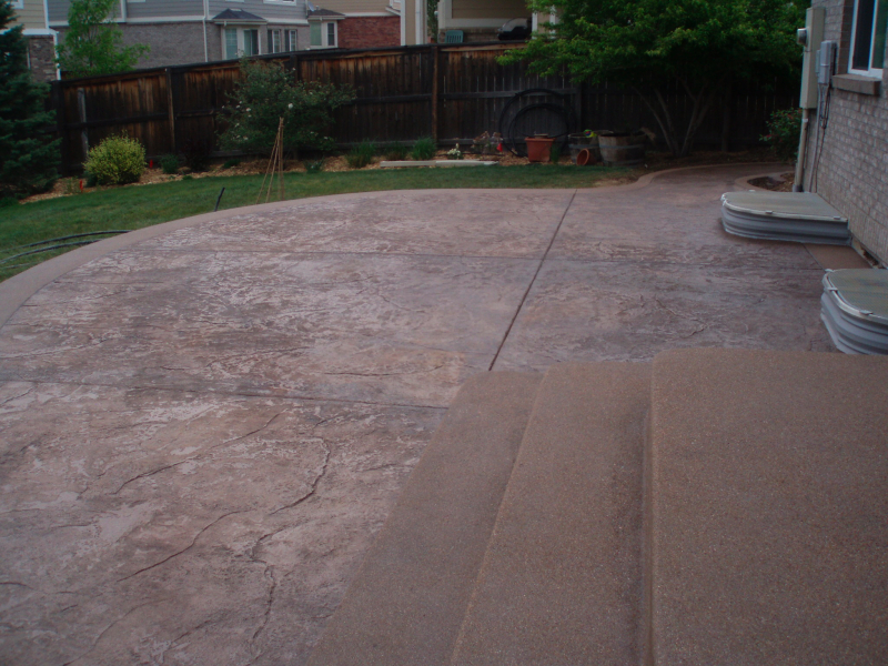 stamped concrete patios. Black Bedroom Furniture Sets. Home Design Ideas