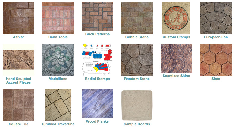 Concrete Stamp Patterns
