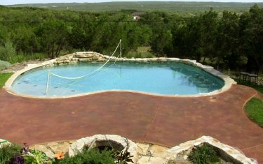 Stained Concrete Pool Deck