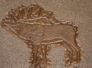 decorative concrete (elk stamp)