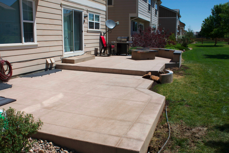 patio after concrete before our resized work construction addition hot easter backyard pad patios tub