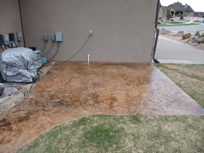Backyard covered patios - Stamped And Decorative Concrete